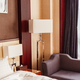 Hotel room interior with floor lamp. - PhotoDune Item for Sale