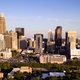 Long Panoramic Aerial view of the Downtown City Skyline of Charllotte NC - PhotoDune Item for Sale