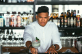 Bartender presents a cocktail - PhotoDune Item for Sale