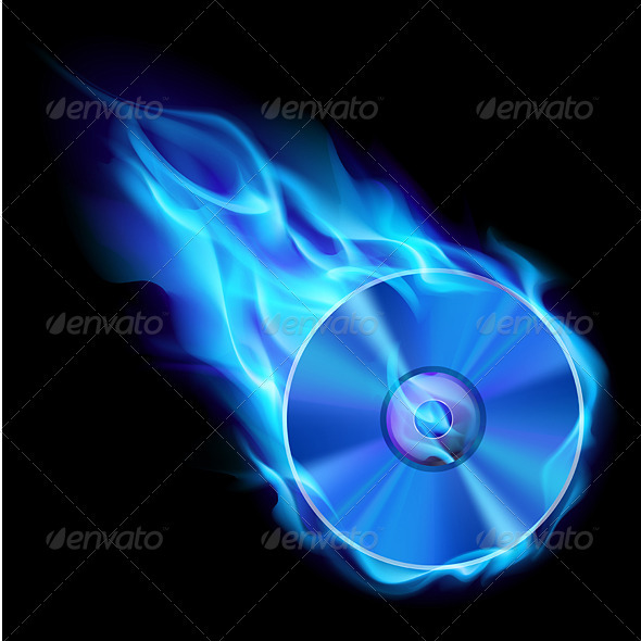 Burning Blue CD - Objects Vectors