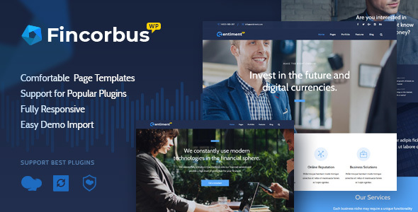 Image of Fincorbus - Finance Corporate WordPress Theme