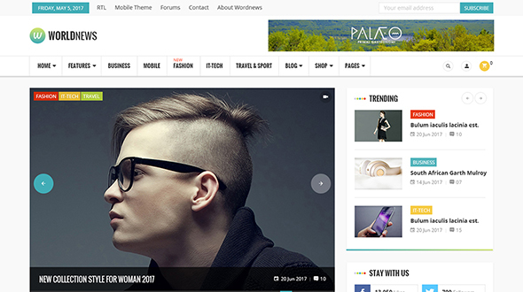 WorldNews - Magazine  RTL Responsive WordPress Blog\Magazine - Blog / Magazine WordPress