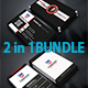 2 in 1 Business Card Bundle 007 - GraphicRiver Item for Sale