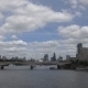 London, A View of the Fluffy Clouds Above a Central Embankment - VideoHive Item for Sale