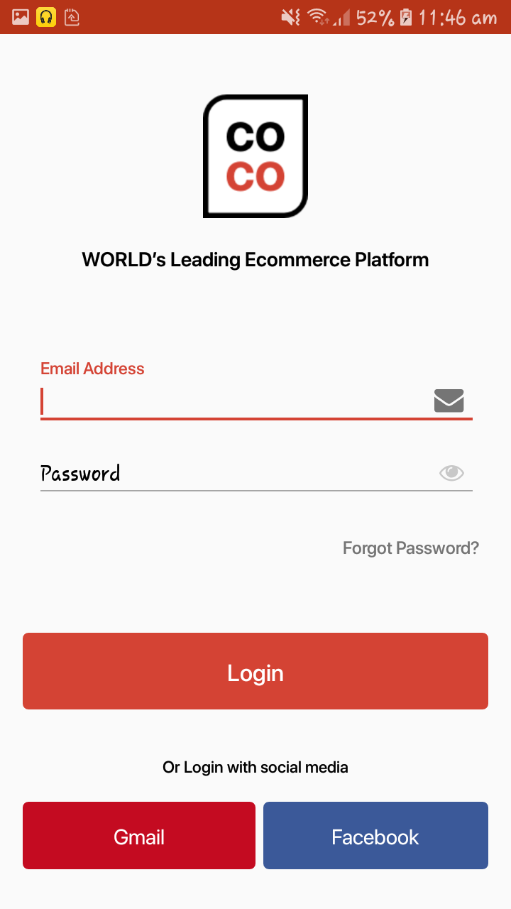 coco e commerce android app material ui template with xml source