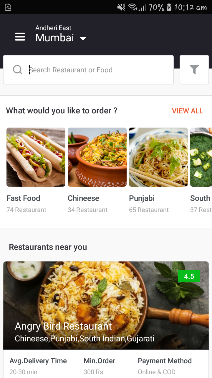 Food Delivery Android App Ui Template With Xml Source Code By