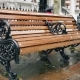 A Wooden Bench in the Rain, Rainy London - VideoHive Item for Sale