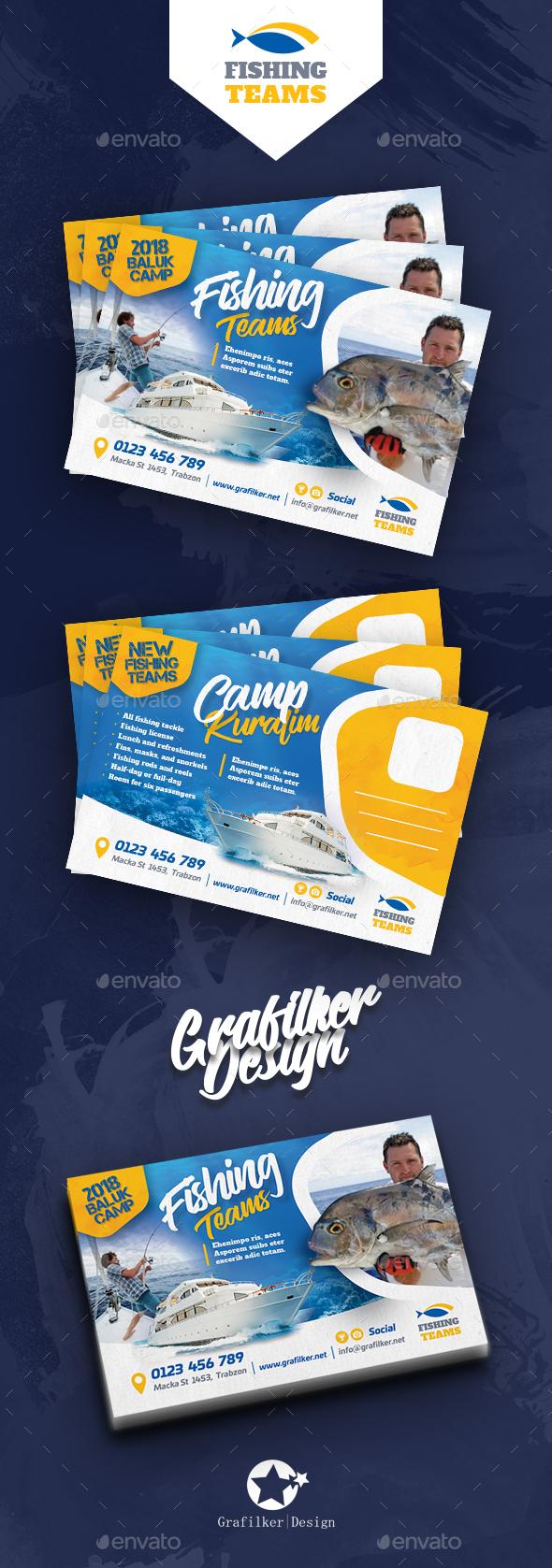 Fishing Tour Postcard Templates - Cards & Invites Print Templates