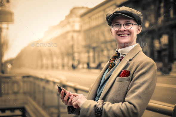 Positive guy outdoor - Stock Photo - Images