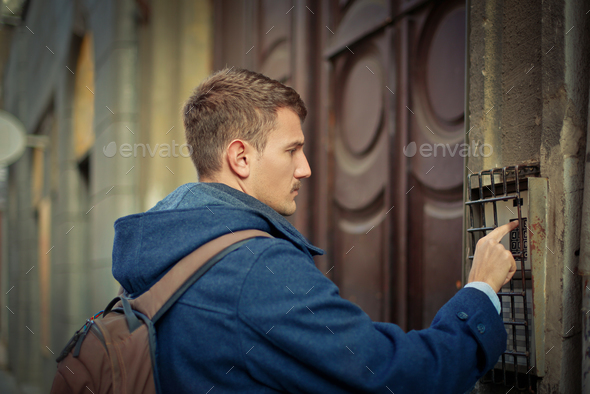 boy who rings the bell - Stock Photo - Images