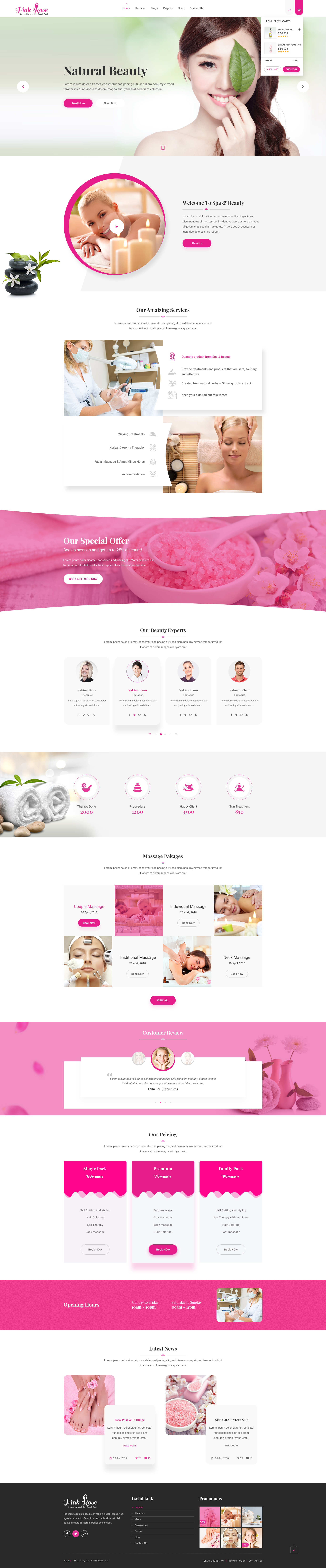 Pink rose unique web layout psd template by bootscore themeforest web layout psd template psd templates 01previewimageg 02homeoneg maxwellsz
