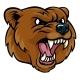 Grizzly Bear Cartoon Mascot Angry Face - GraphicRiver Item for Sale