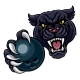 Black Panther Holding Bowling Ball Mascot - GraphicRiver Item for Sale