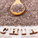 Inscription chia and seeds as source natural vitamins, dietary fiber and minerals - PhotoDune Item for Sale