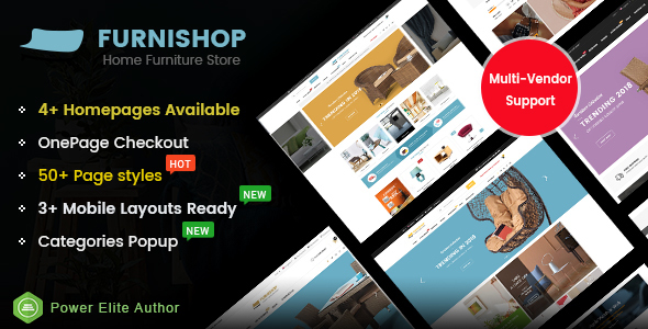 FurniShop - Multi-purpose Marketplace OpenCart 3 Theme (Mobile Layouts Included) - OpenCart eCommerce
