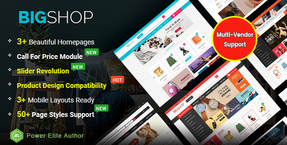 BigShop – High Customizable Responsive OpenCart 3 Marketplace Theme