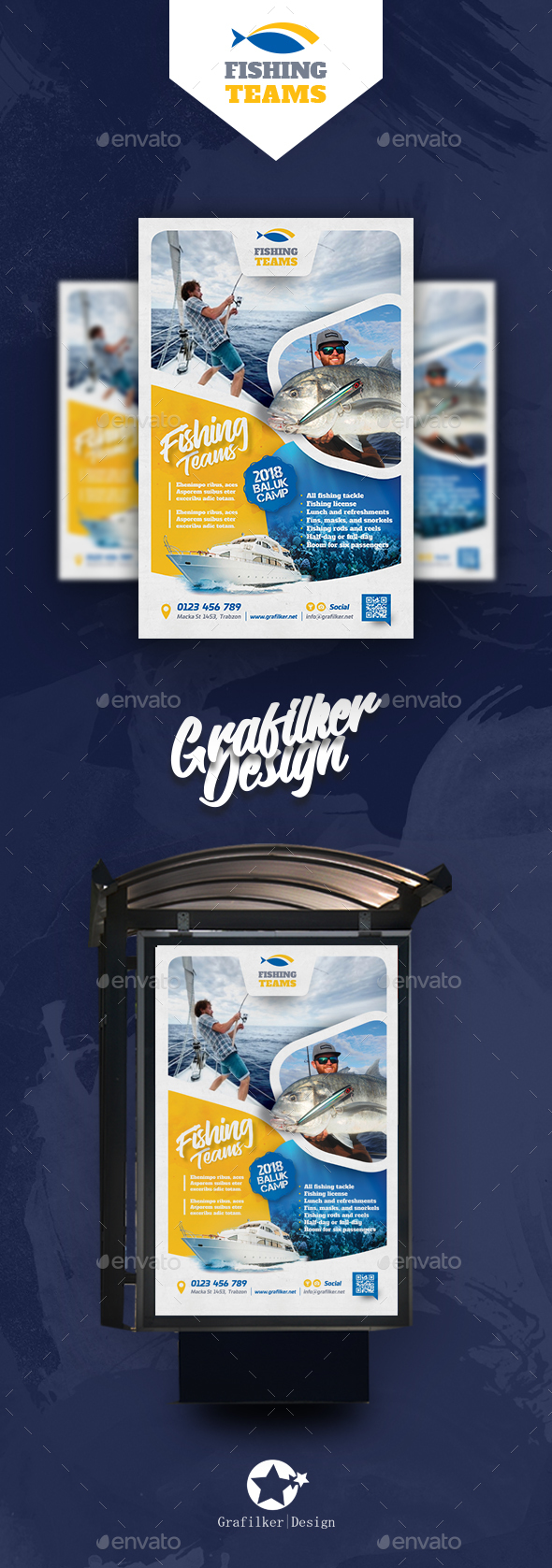 Fishing Tour Poster Templates - Signage Print Templates
