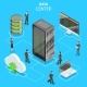 Data Center Flat Isometric Vector Concept. - GraphicRiver Item for Sale