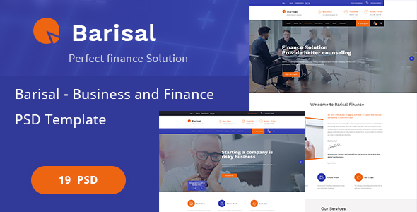 Barisal - Business and Finance PSD Template - Corporate PSD Templates