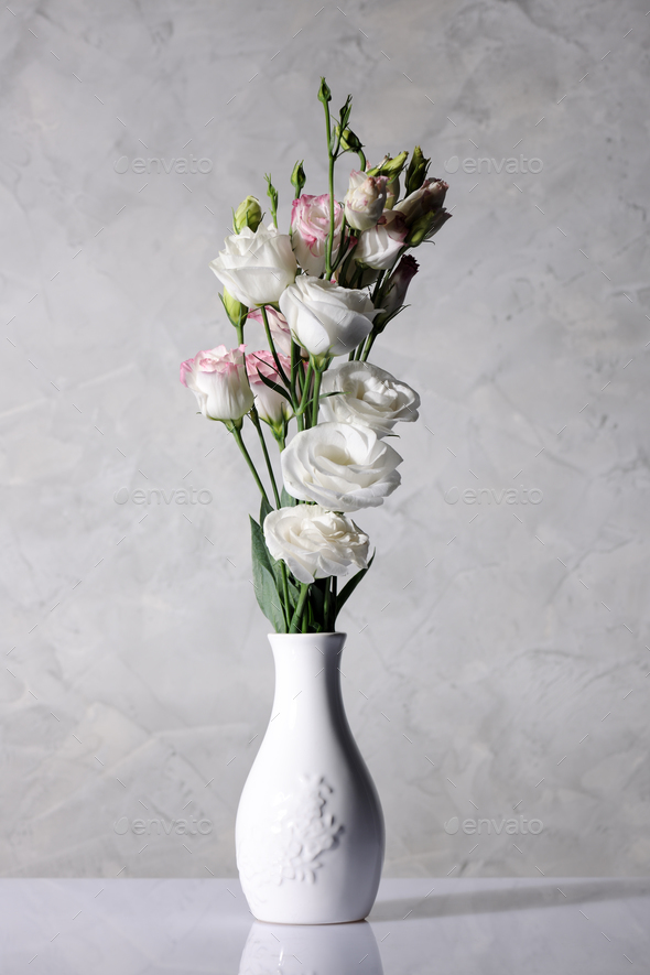 vase with beautiful flowers - Stock Photo - Images