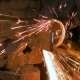 Blacksmith Sawing Metal with Hand Circular Saw - VideoHive Item for Sale