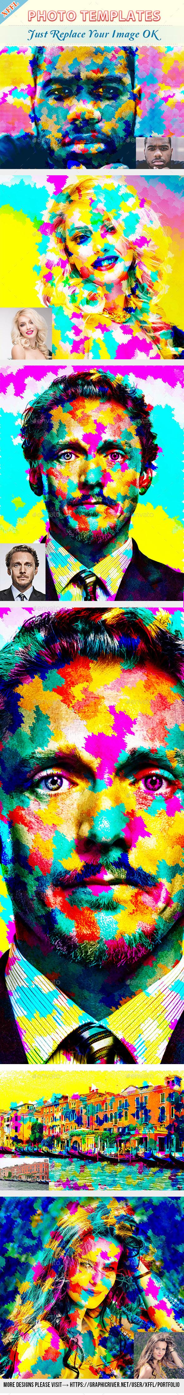 Colourful Paint Photo Template - Artistic Photo Templates