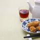 deep fried honeycomb taro dumplings, chinese dim sum and shaoxing wine - PhotoDune Item for Sale