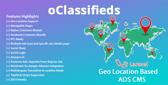 oClassifieds - PHP and Laravel Geo Classified ads cms - CodeCanyon Item for Sale
