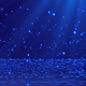 Abstract Blue Falling Particles and Light Rays - VideoHive Item for Sale