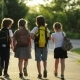 Group of Pupils with School Backpacks Are Going Back To School. They Are Having a Lot of Fun - VideoHive Item for Sale