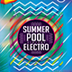 Summer Pool Vintage Electro Flyer/Poster Template - GraphicRiver Item for Sale