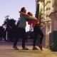 Couple Dancing in the City Near the Building - VideoHive Item for Sale