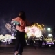 Couple Dancing Against Fireworks in Night City - VideoHive Item for Sale