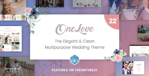 Image of OneLove - The Elegant & Clean Multipurpose Wedding WordPress Theme