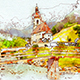 Realistic Watercolor Urban Sketcher Photoshop Action - GraphicRiver Item for Sale