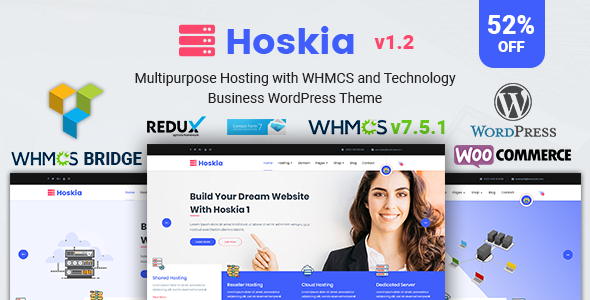 Image of Hoskia | Multipurpose Hosting with WHMCS Theme