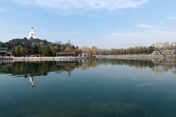 Beihai Park in Beijing China - Stock Photo - Images