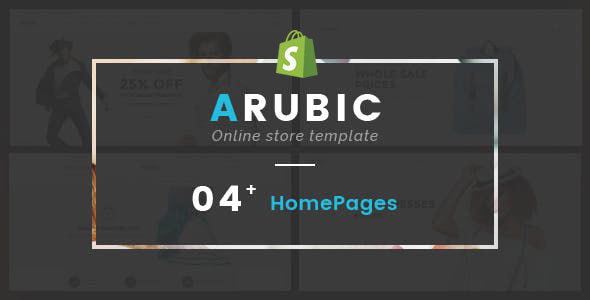Image of Arubic - Responsive Shopify Theme