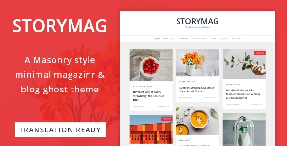 Storymag – Minimal Masonry Style Magazine and Blog Ghost Theme