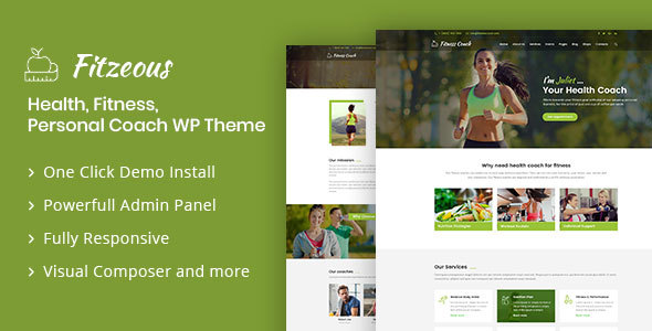 Fitzeous - Personal Fitness Trainer WordPress Theme - Health & Beauty Retail