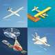 Airplanes Helicopters Design Concept - GraphicRiver Item for Sale