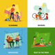 Fatherhood Concept Icons Set - GraphicRiver Item for Sale