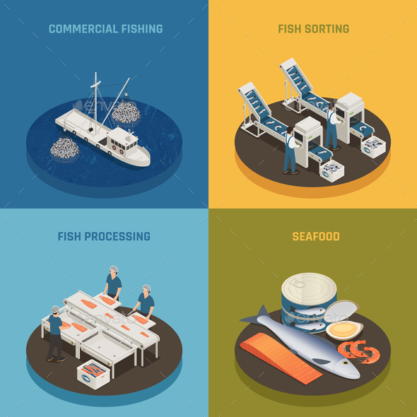 Commercial Fishing Design Concept - Industries Business