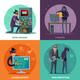 Hacker Cartoon Design Concept - GraphicRiver Item for Sale