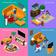 Baby Sitter Isometric Concept - GraphicRiver Item for Sale