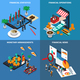 Financial Technology Isometric Design Concept - GraphicRiver Item for Sale