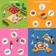 Kindergarten Play Ground Isometric Concept