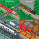 Trains Isometric Design Concept - GraphicRiver Item for Sale