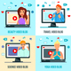 Video Bloggers Characters Flat Concept - GraphicRiver Item for Sale