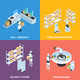 Automated Shops Isometric Concept - GraphicRiver Item for Sale